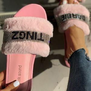 belle Shoes - Barbie Tingz Fur Slippers